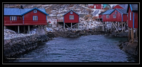 cabins in lofoton, norway