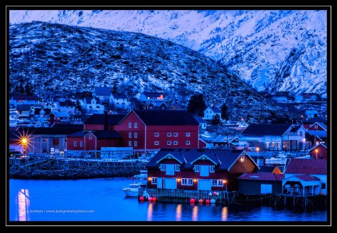 village of lofoton, norway